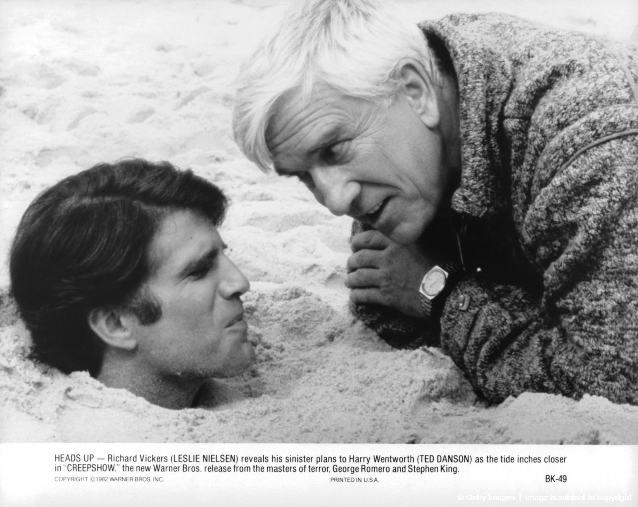 Ted Danson And Leslie Nielsen In 'Creepshow'