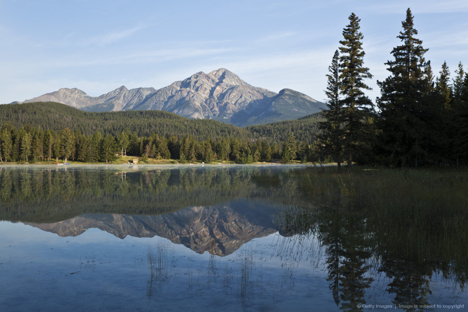 Pyramid Mountain and Lake Edith, Jasper National Park, Alberta, Canada